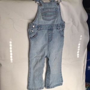 Light wash old navy 18-24 month overalls